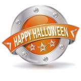 Feliz Halloween del botón Foto de archivo libre de regalías