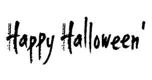 Feliz Halloween escrito mano animada de la caligrafía