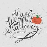 Feliz Halloween negro de la inscripción Imagenes de archivo