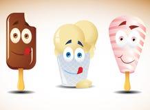 Feliz helado Fotos de archivo libres de regalías