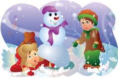 Feliz jugado en invierno Imagenes de archivo