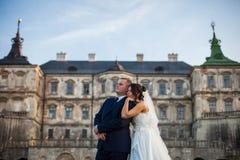 Feliz magnífico elegante romántico apacible por completo de los pares del amor Imagen de archivo libre de regalías