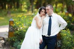 Feliz magnífico elegante romántico apacible por completo de los pares del amor Fotografía de archivo libre de regalías