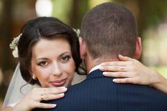 Feliz magnífico elegante romántico apacible por completo de los pares del amor, spr Fotografía de archivo