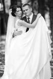 Feliz magnífico elegante romántico apacible por completo de los pares del amor, spr Imagen de archivo