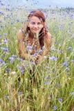 Feliz na natureza Fotografia de Stock Royalty Free