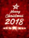 Feliz Natal 2018 Fotos de Stock