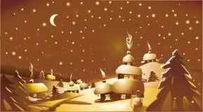 Feliz Natal! Ano novo feliz! Cor do ouro Fotografia de Stock Royalty Free