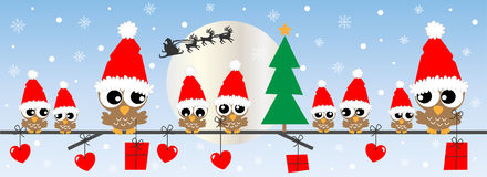Feliz Natal boas festas Imagem de Stock Royalty Free