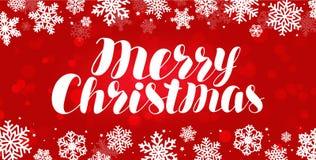 Feliz Natal, cartão Celebração, bandeira do feriado Ilustração do vetor ilustração stock