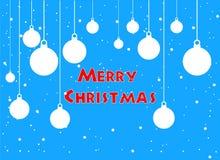 Feliz Natal cartão e imagem do vetor do ano novo feliz ilustração do vetor