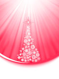 Feliz Natal com flocos de neve e árvore. EPS 8 Foto de Stock Royalty Free