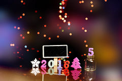 Feliz Natal criativo Anos novos felizes 2016 Foto de Stock Royalty Free