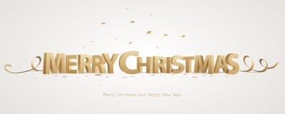 Feliz Natal 3d Imagens de Stock Royalty Free