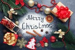 Feliz Natal da inscrição fotografia de stock royalty free