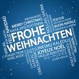 Feliz Natal da nuvem da palavra & x28; em German& x29; Imagens de Stock