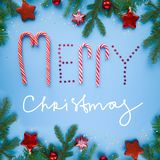 Feliz Natal da rotulação imagem de stock
