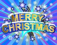 Feliz Natal de explosão Foto de Stock
