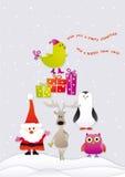 Feliz Natal do canto Fotos de Stock Royalty Free