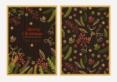 Feliz Natal do cartão Imagens de Stock