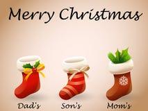 Feliz Natal do cartão de Natal Fotos de Stock Royalty Free