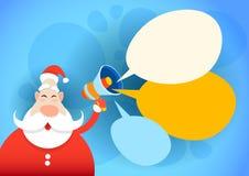 Feliz Natal do feriado do ano novo feliz do espaço de Santa Claus Hold Megaphone Empty Copy Fotos de Stock