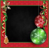 Feliz Natal do quadro-negro Foto de Stock Royalty Free
