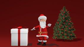 Feliz Natal e animação 2019 do ano novo feliz com Santa Claus ilustração do vetor