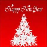 Feliz Natal e ano novo feliz ilustração royalty free