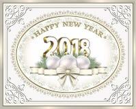 Feliz Natal e ano novo feliz 2018 Foto de Stock