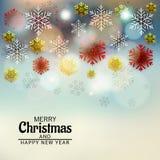 Feliz Natal e ano novo feliz ilustração stock