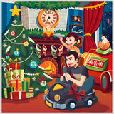 Feliz Natal e ano novo Foto de Stock Royalty Free