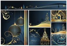 Feliz Natal e ano novo feliz ilustração do vetor