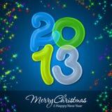 Feliz Natal e ano novo feliz 2013 Fotografia de Stock Royalty Free