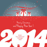 Feliz Natal e ano novo feliz 2014! Imagens de Stock Royalty Free