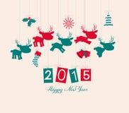 Feliz Natal e ano novo feliz Foto de Stock