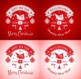Feliz Natal e ano novo feliz! Imagens de Stock