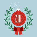 Feliz Natal e ano novo feliz 2016 Fotos de Stock