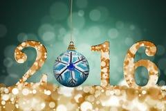 Feliz Natal e ano novo feliz 2016 Imagem de Stock