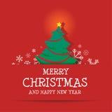Feliz Natal e ano novo feliz Imagens de Stock Royalty Free