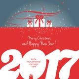 Feliz Natal e ano novo feliz 2017 Imagem de Stock Royalty Free