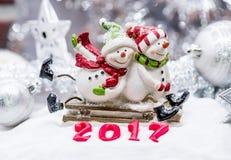 Feliz Natal e ano novo feliz Fotografia de Stock