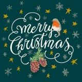 Feliz Natal e ano novo feliz Imagem de Stock