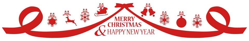 Feliz Natal e ano novo feliz - fundo Imagens de Stock
