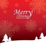 Feliz Natal e ano novo feliz, projeto Imagem de Stock