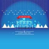 Feliz Natal e ano novo feliz, projeto do vetor Imagens de Stock