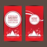 Feliz Natal e ano novo feliz, projeto do vetor Fotografia de Stock Royalty Free