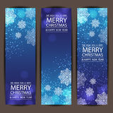 Feliz Natal e ano novo feliz, projeto do vetor Imagens de Stock Royalty Free