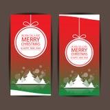 Feliz Natal e ano novo feliz, projeto do vetor Foto de Stock Royalty Free