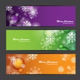Feliz Natal e ano novo feliz, projeto do vetor Imagem de Stock Royalty Free